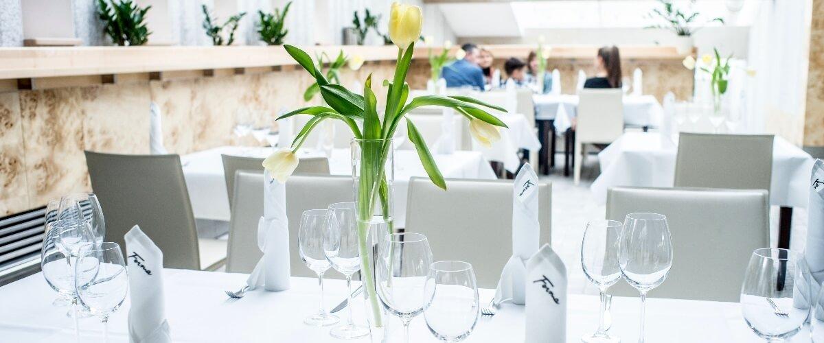 Restauracja Forma - bukiet kwiatów